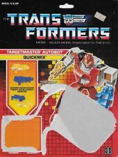 Transformers Original G1 1987 Targetmaster Quickmix Full Card Back with Tech