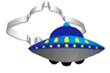 UFO Flying Saucer Metal Cookie Cutter
