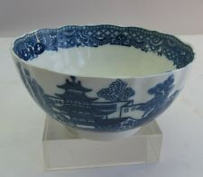 Fine 18th C. DR. WALL WORCESTER Porcelain Bowl Chinese Design  c. 1750  antique