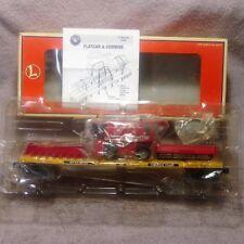 Lionel 6-17544 Trailer Train MTXX 98102 Flat Car with Die Cast Red Farm Combine