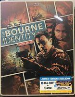 The Bourne Identity STEELBOOK (Blu-ray/DVD, 2014, 2-Disc, Digital) NEW SEALED