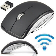 2.4GHz USB Ratones óptico inalámbrico Mouse Scroll portátil PC Plegable con usb