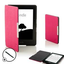 Pink Smart Shell Case Cover Sleeve for Amazon Kindle Voyage + Free Stylus