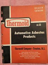 Vintage THERMOID DEALER CATALOG Automotive Asbestos Products A-53, Trenton, NJ
