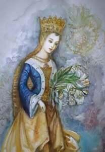 """NV8.55 Original Watercolor Painting """"Portrait"""" 29x20cm 11.5""""x 8"""" signed"""