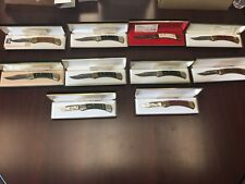 Harley Complete Set Of 10 Heritage Knives with Display Case