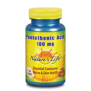 Nature's Life  Pantothenic Acid, 100 mg | 100 ct