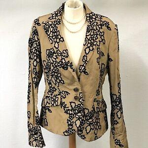 ETRO Milano Women's Floral Metallic Blazer Jacket - Size 46/10