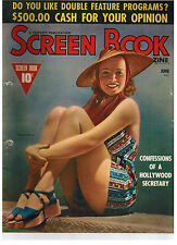 SCREEN BOOK MAGAZINE June 1939 Virginia Bruce Cover - film
