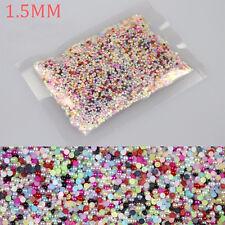 100 Perlen 1,5 mm Nagelsticker Fingernägel Aufkleber Nagel Nailsticker bunt