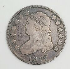 1819 Capped Bust Quarter 25¢ Silver Coin 6.6g