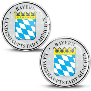 3D Gel Domed Stickers Badge Bayern München Stadt German Number Plate Resin Seal
