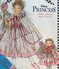 "7198 Daisy Kingdom Child & 18"" Doll Princess Dress Costume Pattern sz 3-8 UNCUT"