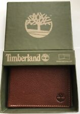GENUINE TIMBERLAND BROWN (BURNISHED) LEATHER BIFOLD WALLET BRAND NEW IN GIFT BOX