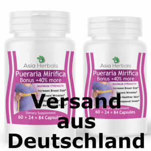 168 Pueraria Mirifica Kapseln Vitalität Brustvergrößerung 500mg PMS Anti Aging