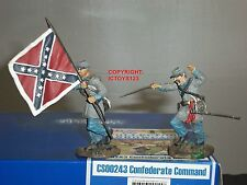 COLLECTORS SHOWCASE CS00243 CONFEDERATE INFANTRY TOY SOLDIER FIGURE COMMAND SET
