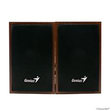 USB 2.0 Wooden 4 Watt Speaker Set for Desktop PC Computer Laptop Genius SP-HF160