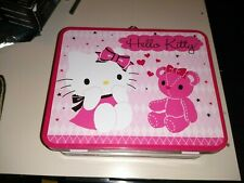 SANRIO Hello Kitty 100 Pc Puzzle in Metal Lunchbox Tin ~ Kitty with Pink Teddy