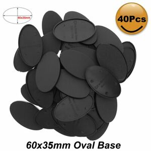 20pcs/40pcs/80pcs Oval Bases 60X35mm Plastic Base For Mini Wargames MB660