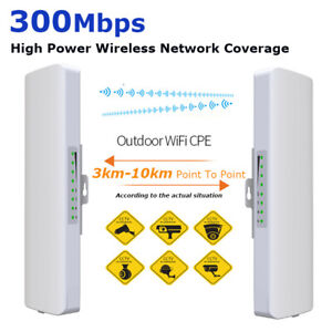 16000ft 300Mbps 5.8G Outdoor WiFi Extender Router Wireless Access Point CPE/AP