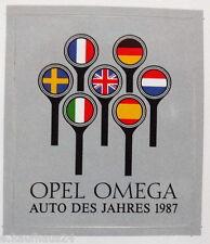 Aufkleber OPEL A OMEGA  Auto des Jahres 1987 Youngtimer Sticker