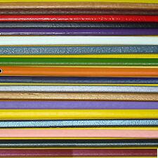 4 Piezas Cuero Para Abalorios Regaliz 10mm A113E Genuine Leather Leder Cuir