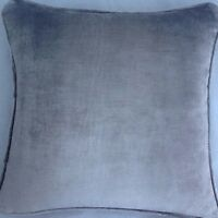 A 18 Inch Cushion Cover In Laura Ashley Murano Sable Velvet Fabric