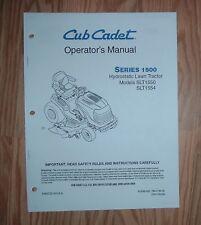 CUB CADET  SLT1550  OWNER OPERATORS  MANUAL