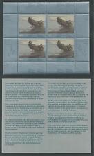 CANADA QUEBEC, # QU-2 WILDLIFE CONSERVATION STAMP 1989 MINIATURE SHEET
