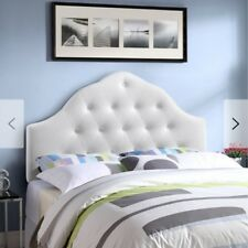 *BRAND NEW *SOFT *BEAUTIFUL *WHITE *TWIN BEDS Upholstered Panel Headboard!