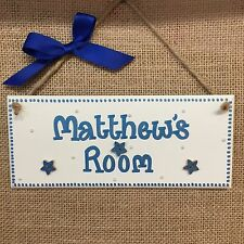PERSONALISED CHILDRENS GIRLS/ BOYS /SHARED ROOM NAME DOOR WALL SIGN PLAQUE
