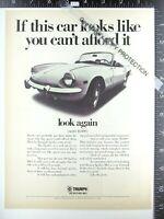 3+ ADS 1969 Triumph Spitfire Mk3 & Solex Carburetor Borrani Wheel NGK spark plug