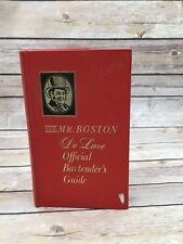 Old Mr. Boston DeLuxe Official Bartender's Guide (Hardcover 1967) 38th printing