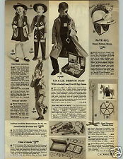 1966 PAPER AD Man UNCLE Trench Coat Attache Batman Hazelle String Puppet Robin