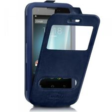 Etui Coque Silicone S-View Couleur bleu Universel XL pour Huawei Honor X5