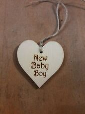 Handmade Wooden Gift Tags New Baby Boy