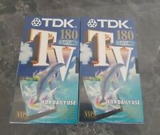 More details for tdk vhs blank tapes 2 x 180 3 hour new factory sealed