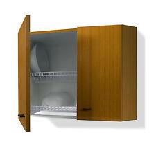 Mobile scolapiatti pensile x cucina componibile 60 cm colore teak doppia griglia