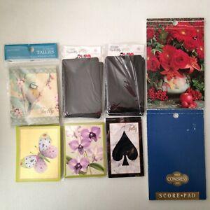 Bridge Tally Cards & Score Pads Gemaco, Caspari, Gibson, US Playing Card Co.