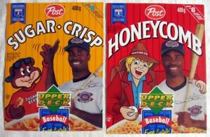 DEVON WHITE Blue Jays ~ c1990's Post Cereals Canadian Box Fronts