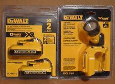 Brand New DEWALT DCL510 12V Max LED Worklight + DCB127-2 2Ah XR Li-Ion Battery