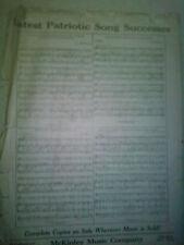 """1908 """"Latest Patriotic Song Successes"""""""