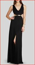 BCBG MAXAZRIA VALENTINA BLACK CUTOUT-WAIST LONG DRESS size 10 NWT $298-RackG/27