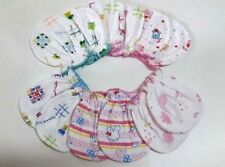 6 PAIRS 100% COTTON GLOVES MITTENS FOR NEW BORN  BABIES   ANIMAL PRINT