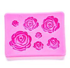 Rose Flower Silicone Molds Craft Fondant Cake Decoration Gumpaste Molds Resin