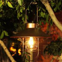 Solar Power LED Hanging Light Retro Lantern Outdoor Garden Yard Decoration Lamp