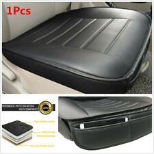 Universal 53x50cm Black PU Car Seat Protector Cushion Front Cover Pockets 1Pcs