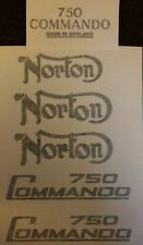 NORTON COMMANDO 750 DECAL KIT