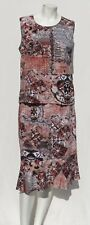 CHICO'S Canada Brown Print Rayon Jersey Tank Top + Skirt Set size 1 2 8 10 12 M