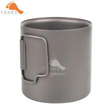 TOAKS 450ml Titanium Water Cup Mug Picnic Camping Double Wall Titanium Cup